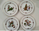 Set of 4 Fitz and Floyd Christmas plates, Deck the Halls FF 153 MCMLXXXll