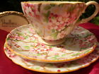 Shelley MAYTIME CHINTZ # 13452  HENLEY SHAPE  FOOTED CUP, SAUCER  AND 6