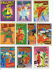 THE SIMPSONS- Complete set of all 10 RADIOACTIVE MAN CARDS - 1993 SKYBOX