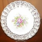 Collectible Nasco Saucer Plate Dish  22 K Gold Warranted Rosalie K-S384