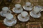 Set of 6 Made in Japan Porcelain Hand Painted Gold Demaitasse C/Saucers GORGEOUS
