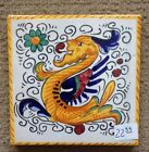 Deruta Pottery-4x4 inch tile Raffaellesco made/painted by hand in Italy