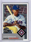 2002 TOPPS HERITAGE AUTO ALEX RODRIGUEZ REAL ONE AUTOGRAPHS CARD CARD #RO-ARO