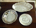 3 Pcs of  Vintage WMF IKORA  Footed Serving Bowl, Plate and Footed Dish
