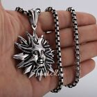 New Men Tribe Sun Silver/Gold Tone316L Stainless Steel PENDANT Necklace Gift 22
