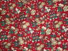 Joan Kessler Concord Christmas Floral Flowers Red 3.33 Yards Quilting Fabric