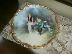 Antique French Limoges Hand Painted Porcelain Charger Plate Signed Dubois
