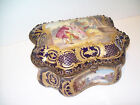 Antique French Sevre Porcelain Box Jewelry Casket Sevres and gold