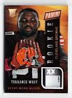 2014 Panini National Convention Gold Pack Terrance West Glove Tag Patch Rc