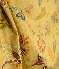 Waverly Fabric Deauville Dance Gem Jacobean Floral Drapery Fabric