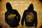 SAXON SACRIFICE - D2C Limited Deluxe Box Set L Hoodie Sweatshirt Shirt Live CD