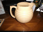 Nice Yellow ware Bee hive  Pottery Pitcher!