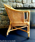MID CENTURY MODERN BAMBOO ARM CHAIR BENTWOOD RATTAN WICKER