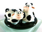 COW OX PEPPER SALT SHAKER HANDMADE CERAMIC FIGURINE TINY MINIATURE DECOR COLLECT
