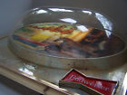 Budweiser King of Beers 3-D Dome Lighted Bar Sign Clydesdales 1970s Ad