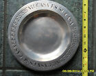 VINTAGE PEWTER PLATE YORK METAL CRAFTERS USA MEXICAN DESIGN MI CASA