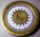 D W Porzellan porcelain charger etched gold encrusted courting couple putti deer