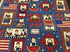 DAISY KINGDOM BARNYARD BAR-B-QUE PACKED PATCH # 1859 FABRIC    BY THE YARD