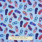 Timeless Treasures Fabric - Patriotic Red White Blue Sandal Toss Stars YARD