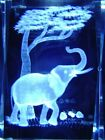 ELEPHANT CRYSTAL 3D CRYSTAL LASER ETCHED PAPERWEIGHT