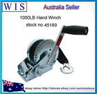 1000LBS/450Kg Hand Winch 2-ways Synthetic Strap 4WD Manual Car Boat