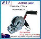 2500LBS/1136Kg Hand Gear Winch 2-Way Synthetic Strap Manual Car Boat Trailer