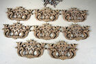 Chinese Chippendale Solid Brass Drawer Pulls, 8 Sets