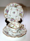 Antique Meissen DRESDEN Germany Cup & Saucer W/Second Plate Crossed Swords Mark