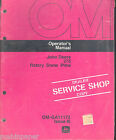 JOHN DEERE7275 ROTARY SNOW PLOW OPERATORS MANUAL OM-GA11172 ISSUE 16