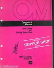 JOHN DEERE 270 ROTARY SNOW PLOW OPERATORS MANUAL OM-GA10553 ISSUE F5