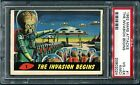 PSA 4 MC 1962 Mars Attacks #1 THE INVASION BEGINS RARE FIRST CARD Topps Bubbles