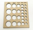 Simple Paper Quilling Board Tool Circle Template Stencil 30mm 10mm Laser Cut