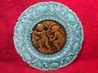 Beautiful Antique German Rococo Intaglio Majolica Plate c1883-1895, gm595