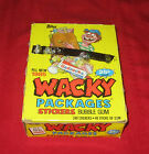 VINTAGE 1985 WACKY PACKAGES BOX 48 UNOPENED PACKS @@ RARE @@