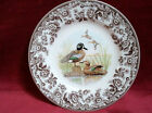 4PC Set - Spode Woodland Birds *BLUE WINGED TEAL* SALAD Plates Brown/White NWT