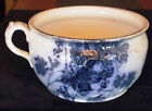 Antique Flow Blue Chamber Pot Potty Ridgways Staffordshire Royal Semi Porcelain