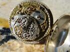 Antique Silver Repousse Verge Pocket Watch circa 1760