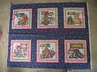 BUSY BEES AND BEAR PILLOW PANEL OR QUILT BLOCK DIANNA MARCUM  MARCUS BROS FABRIC