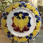 Antique French Luneville Faience Eagle Armorial Plate c.1900, ff289