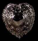 CHANTILLY BY GORHAM STERLING SILVER 925 CANDY DISH HEART SHAPED Pattern 966
