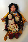 Paradise Galleries Cindy Shafer Native American Porcelain Doll with Papoose baby