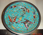 VTG ANTIQUE ESTATE JAPANESE ASIAN BUTTERFLY PORCELIAN PEWTER RICE NOODLE BOWL