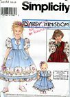 Simplicity 8263 RARE ISSUE Daisy Kingdom Girls' Dress SZ 3 4 5 6 + DOLL DRESS