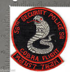 USAF patch - 56th Security Police Squadron - Cobra Flight