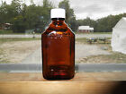 OLD/VINTAGE AMBER BROWN 4 OZ. REXALL PHARMACY MEDICINE BOTTLE