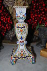 WONDERFUL ITALIAN DERUTA STYLE CANDELABRA DONE IN ALL COLOR OF HAND PAINTED WORK