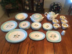 33pc Set of VINTAGE LIFETIME CHINA HOMER LAUGHLIN Turquoise Pattern