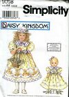 Simplicity 9098 Daisy Kingdom Girls' Dress Size 3 4 5 6 + DOLL DRESS Pageant UCT