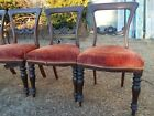 Set 4 Antique Regency Hand Carved Chairs ~ Early 1800s ~ Central Virginia