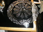 Chevron Star Clear Glass Cake Plate 11.5
